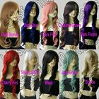 28 Inch Free Shipping Synthetic Long Hair Wavy Cosplay Wigs All Color 70cm 32G
