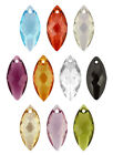 SWAROVSKI ELEMENTS 6110 Crystal Navette Pendant - All Sizes & All Colours