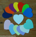 Wedding Die Cuts - Large Scallop Heart - Topper - Cards - Valentine - Favour