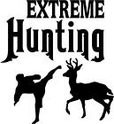 "Extreme Hunting Decal 3.75""x4"" choose color!   vinyl sticker"