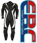 RST Tractech R Black / White One Piece Motorcycle Race Leathers Inc Ce Armour