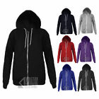 ORIGINAL APPAREL HOODY FLEECE WHITE ZIP AMERICAN HOODED TOP 8 COLOURS ALL SIZES