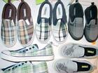 NWT Gymboree Boys Slip On Laceless Plaid Helicopter Sneakers Shoes ONE