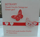 PERSONALISED THANK YOU BRIDESMAID CARD MUM FLOWER GIRL VARIOUS COLOURS