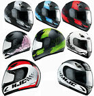 HJC CS14 PASO CHECKER COCO FULL FACE COMPOSITE MOTORCYCLE  HELMET RED GREEN BLUE