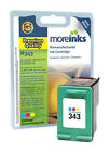 Remanufactured HP 343 Tri-Colour Ink Cartridge for Deskjet 460c Printer & more