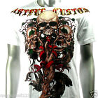 Artful Couture T-Shirt Tattoo Skull Rock AW43 Sz M L XL Heavy Metal Streetwear
