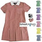 SCHOOL SUMMER GINGHAM DRESSES UNIFORM AGES 3 4 5 6 7 8 9 10 11 12 13 YRS