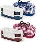 Lock & Lock NEW Bento Lunch Box Set Airtight 2Tier w/2 Containers + Bag HPL748