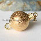 Gold Plated Brushed Ball Clasp 10mm gp0116 Jewelry Making Findings
