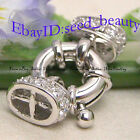 White Gold Plated Spring Ring Crystal Nice Clasp