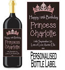 PERSONALISED BOTTLE LABEL BIRTHDAY GIFT FAVOURS WINE, SPIRIT OR CHAMP BDBL 8