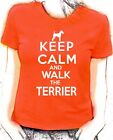 'Keep Calm and Walk the Irish Terrier'  lady fit t-shirt