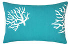 Coral Turquoise, Premier Prints Coral True Turquoise Decorative throw pillow