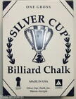 Silver Cup Billiard Chalk - One Dozen/Box of 12- Pool Cue Tip Chalk - 22 Choices