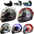 Leopard LEO-818 Graphic Motorbike Motorcycle HELMET Coloured Visor Available