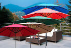 Deluxe 8' 9' 10' 13' FT Outdoor Patio Aluminum Crank Beach Market Umbrella Shade
