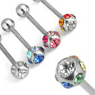 Barbell with Multi Crystal ball