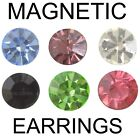 Coloured Crystal Magnetic Earrings Fashion Jewellery