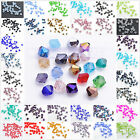 1000pcs Faceted Charm Glass Crystal Finding Bicone Loose Beads 3mm YOU PICK
