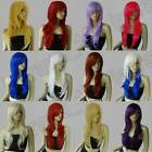 28 in. Long All Color Hair Heat Resistant Big Wavy Cosplay Wig Free Shipping 604