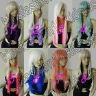 28~32 in. Long Synthetic Free Shipping Heat Resistant Cosplay Wigs Mixed Color