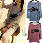 AU SELLER Casual knitting Jumper Blouse loose Top T-shirt SZ S-L/AU8-12 T079