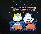 """PEANUTS SCHULZ  """"The Great PUMPKIN is Watching You!"""" Tshirt Juniors NWT"""