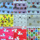 VINYL WATERPROOF OIL CLOTH TABLECLOTH MARINE UPHOLSTERY FABRIC ANIMAL PETS PRINT