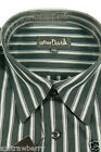 After Dark Men's Big Tall Reg Size Black Striped Dress Shirt Short Sleeve Cotton