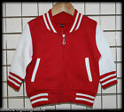 Personalised Kids Baby Children Baseball Varsity Jacket Coat Boys Girls