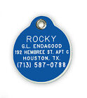 Small Round Shaped Pet Tag Acrylic Plastic Personalized Reflective Free Shipping
