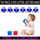 Personalised Teddy Bear Name Letters Kids Wall Art Stickers Decal Transfer Mural