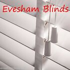 MADE TO MEASURE 50MM PURE WHITE WOODEN VENETIAN BLIND WITH CHOICE OF TAPES