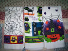 HALLOWEEN KITCHEN DISH HAND TOWEL 3 Styles to choose *White Printed Spider webs
