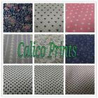 """Calico Print Tailored (Kick Pleat) Dust Ruffle with split corners 14"""" all sizes"""