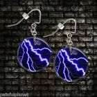 "LIGHTNING Choice Of 1"" Button Dangle Earrings FREE PIN USA Seller"