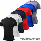Mens Boys Body Armour Compression Baselayer Short Sleeve Thermal Under Top Shirt