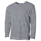 RUSSIAN MARINE SAILOR BLACK STRIPED LONG SLEEVE T-SHIRT TELNYASHKA NAVY  SM-XXL