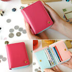 Grace Lovely GK Lady Women's Button Purse Wallet Card Holder PU Leather Bags