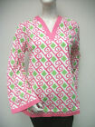 Tracy Negoshian Michelle Tunic Top Pink Green Preppy  NEW NWT 100% cotton