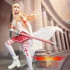 Hot Sword Art Online Asuna Yuuki cosplay costume cloth sword wig shoes full set
