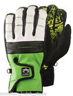 BRAND NEW WITH TAGS Rome BUSHWOOD Snowboard Gloves GREEN/WHT MEDIUM-XLARGE