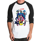 Gorillaz-band rap hip hop rock indie Baseball t-shirt 3/4 sleeve Raglan Tee