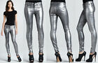 $238 NWT J BRAND JEANS 801 COATED METALLIC SILVER SKINNY LEGGINGS  24 TO 31