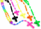 Silicone Rubber Fashion Rosary Style Necklace