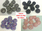 10 x 14mm Resin Acrylic Rhinestone Shamballa Bracelet Making DISCO Ball Beads