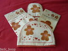 GINGERBREAD MAN  KITCHEN TEXTILES CHOOSE FROM COSY,MITT ,TEA TOWEL OR APRON
