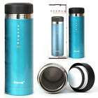 STAINLESS STEEL Vacuum Flask Kitchen Art Mug New Thermos Water Bottle 300ml