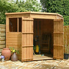 7x7 Wooden Pent Corner Shed Shiplap & Tongue Groove Garden Sheds Double Doors